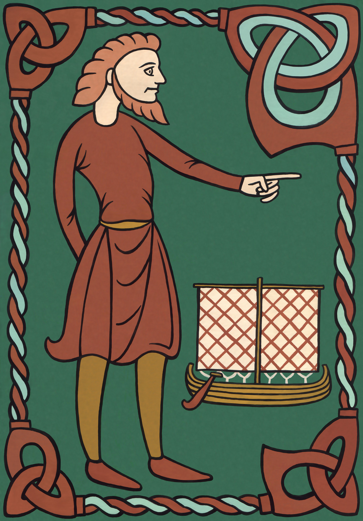 The reconstructed portrait of Leif Ericsson